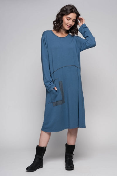 European Cotton Blend Knit Dress - Breathable Naturals | Glam & Fame Clothing