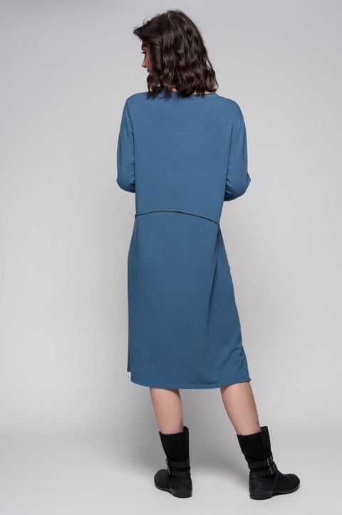 European Cotton Blend Sweater Dress - Breathable Naturals | Glam & Fame Clothing