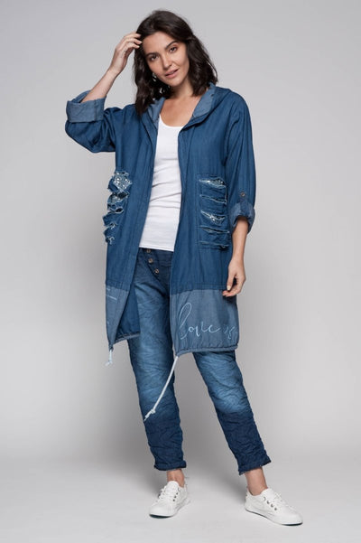 European Cotton Denim Jacket - Breathable Naturals | Glam & Fame Clothing