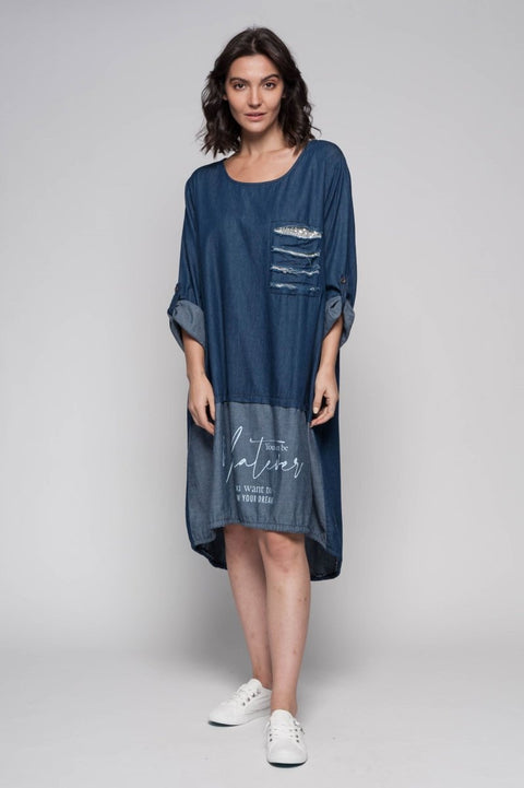 European Cotton Denim Dress - Breathable Naturals | Glam & Fame Clothing