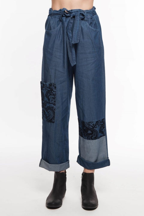 European Cotton Denim Pant - Breathable Naturals | Glam & Fame Clothing