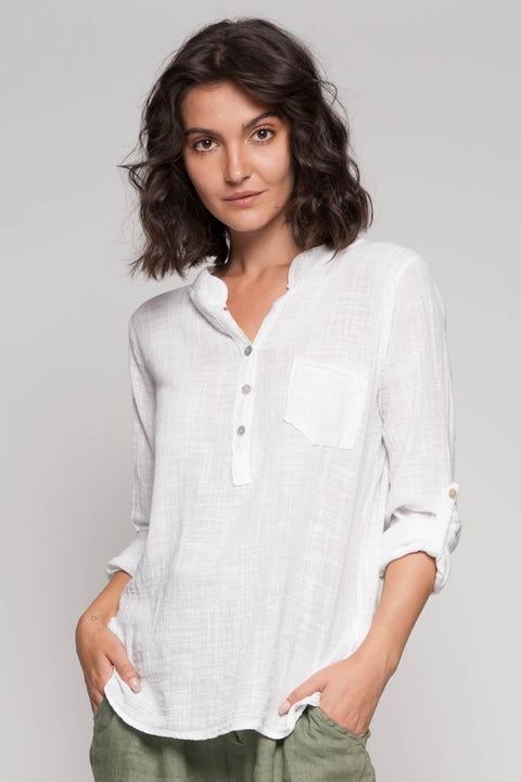 European Cotton Shirt - Breathable Naturals | Glam & Fame Clothing