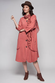 European Cotton French Terry Coat - Breathable Naturals | Glam & Fame Clothing