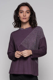 European Cotton Terry Lurex Top - Breathable Naturals | Glam & Fame Clothing