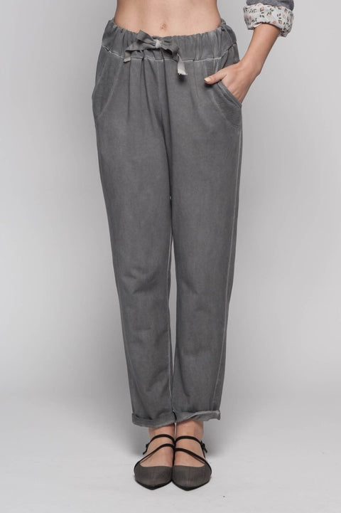 European French Terry Cotton Pants - Breathable Naturals | Glam & Fame Clothing