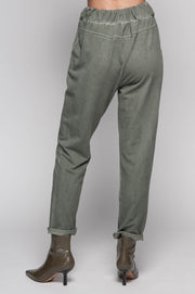 European Cotton Terry Pants - Breathable Naturals | Glam & Fame Clothing