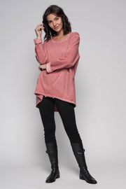 European Cotton Terry Pocket Sweater - Breathable Naturals | Glam & Fame Clothing