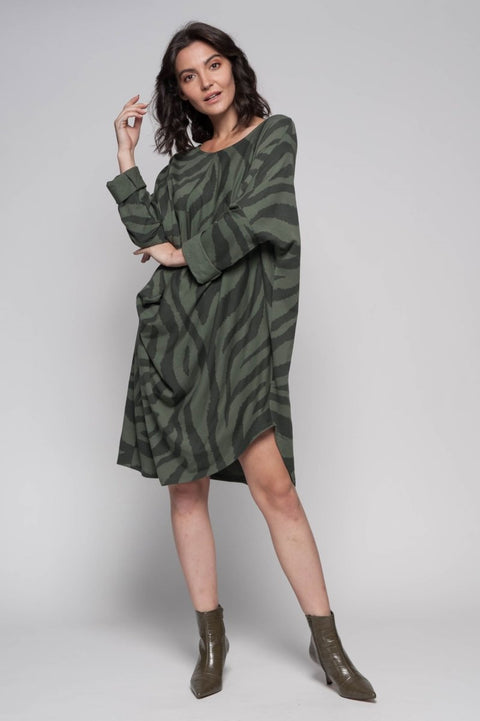 European Cotton Terry Slouchy Sweater Dress - Breathable Naturals | Glam & Fame Clothing