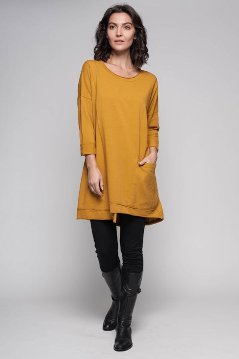 European Cotton Terry Tunic - Breathable Naturals | Glam & Fame Clothing