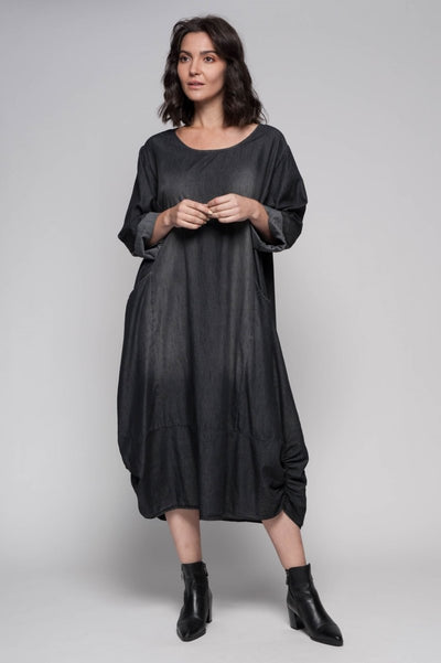 European Denim Modern Contemporary Dress - Breathable Naturals | Glam & Fame Clothing