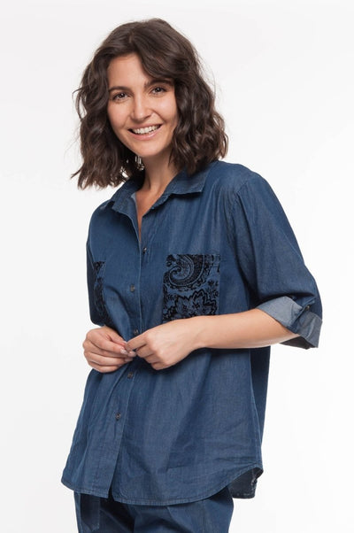 European Vintage Denim Shirt - Breathable Naturals | Glam & Fame Clothing