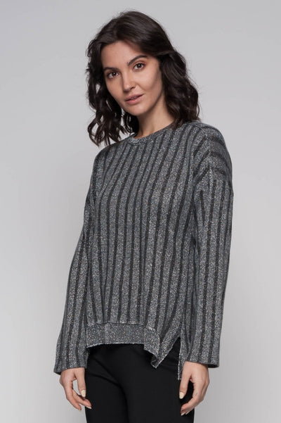 European Knit Lurex Top - Breathable Naturals | Glam & Fame Clothing