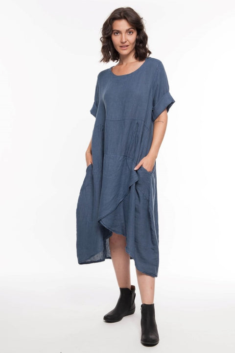 European Linen Dress - Breathable Naturals | Glam & Fame Clothing