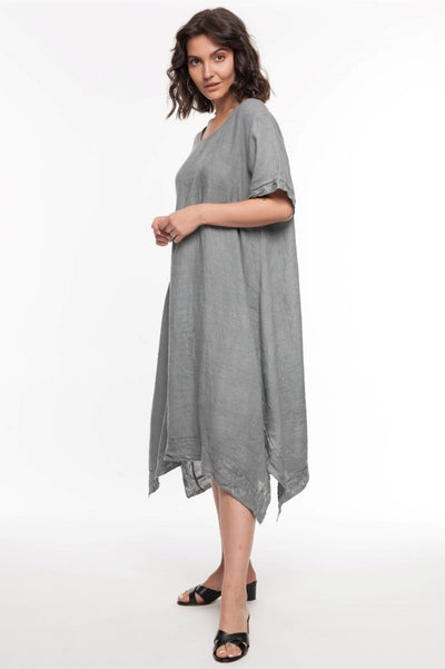 European Linen Embroidered Dress - Breathable Naturals | Glam & Fame Clothing