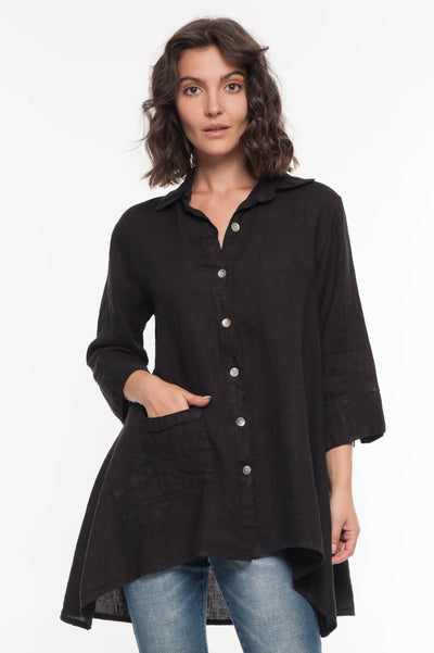 European Linen Shirt - Breathable Naturals | Glam & Fame Clothing