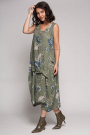 European Linen Floral Dress - Breathable Naturals | Glam & Fame Clothing