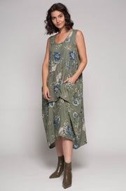 European Linen Floral Maxi Dress - Breathable Naturals | Glam & Fame Clothing