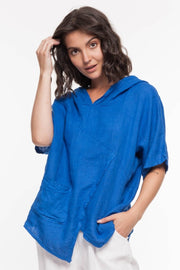European Linen Hoodie Top - Breathable Naturals | Glam & Fame Clothing