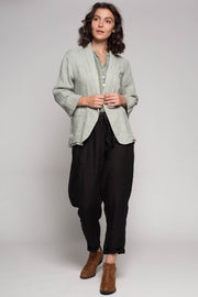 European Linen Jacket - Breathable Naturals | Glam & Fame Clothing