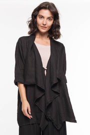 European Linen Kimono Jacket - Breathable Naturals | Glam & Fame Clothing