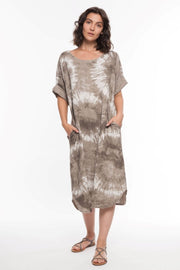 European Linen Printed Dress - Breathable Naturals | Glam & Fame Clothing