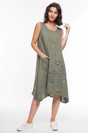 European Linen Sleeveless Dress - Breathable Naturals | Glam & Fame Clothing