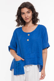 European Linen Top - Breathable Naturals | Glam & Fame Clothing
