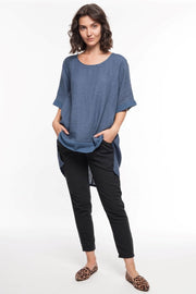 European Linen Tunic - Breathable Naturals | Glam & Fame Clothing