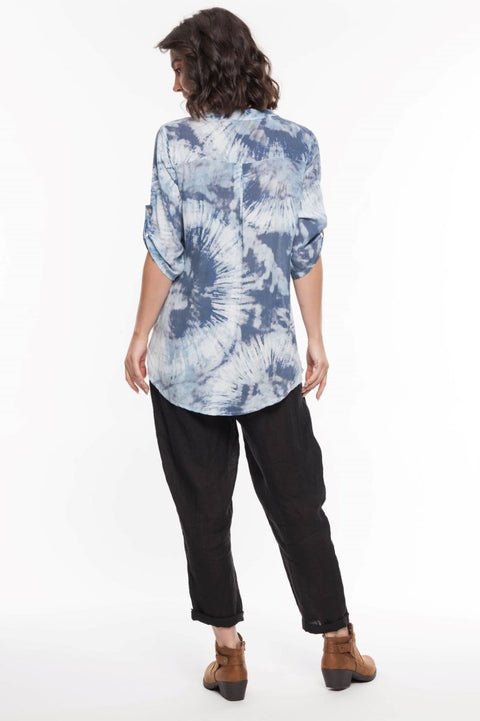 European Tie Dye Shirt - Breathable Naturals | Glam & Fame Clothing