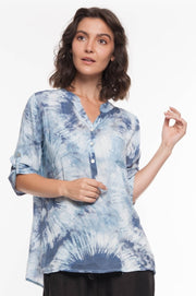 European Pattern and Sequin Shirt - Breathable Naturals | Glam & Fame Clothing