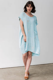 European Linen Blend Midi Dress - Breathable Naturals | Glam & Fame Clothing