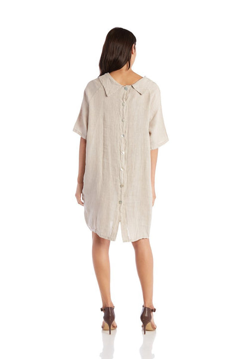 Exclusive Made in Italy Linen Dress - Breathable Naturals | Glam & Fame Clothing