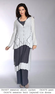 Knit Cardigan with Rolled Hem - Glam & Fame | Breathable Naturals