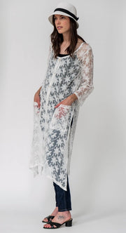 Embroidered Cotton Blend Duster  - Breathable Naturals | Glam & Fame Clothing