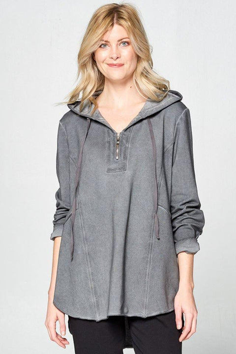 Premium Washed Terry Cotton Hoodie - Glam & Fame | Breathable Naturals