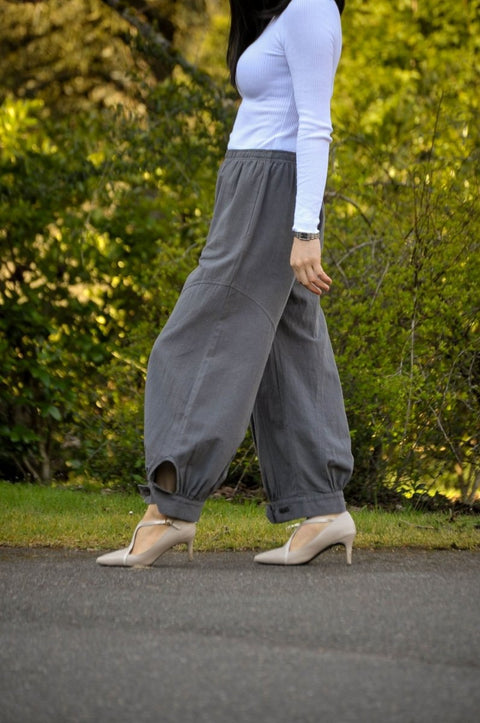 Premium Washed Crushed Cotton Flood Pant - Glam & Fame | Breathable Naturals