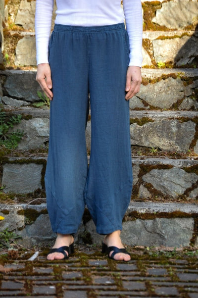 Premium Washed Linen Flood Pants - Glam & Fame | Breathable Naturals