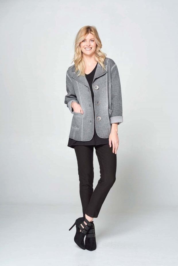 Focus Quilt Jacket Stripe - Glam & Fame | Luxury Boutique