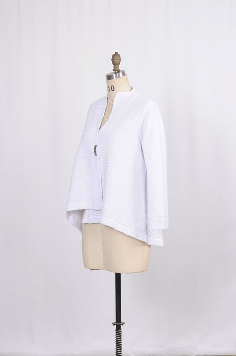 Premium Cotton Textured Swing Jacket - Glam & Fame | Breathable Naturals