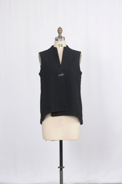 Premium Washed Waffle Weave Cotton Swing Vest - Glam & Fame | Breathable Naturals