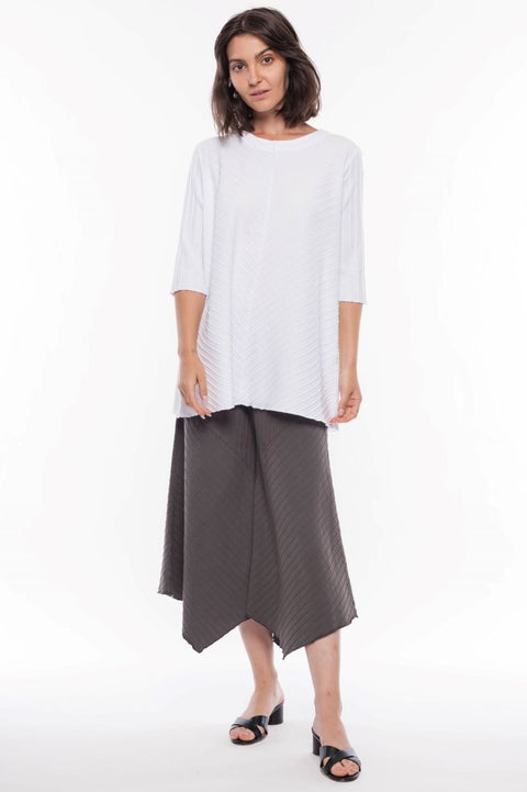 FOCUS V-NECK TUNIC 3/4 SLV - Breathable Naturals | Glam & Fame Clothing