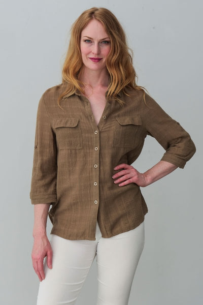 Gemma Shirt - Breathable Naturals | Glam & Fame Clothing