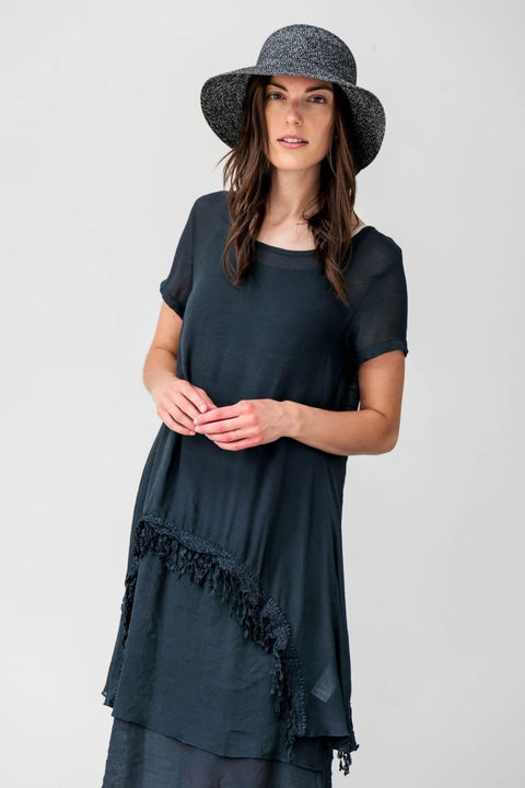 G&F Alexa Tunic Dress - Breathable Naturals | Glam & Fame Clothing