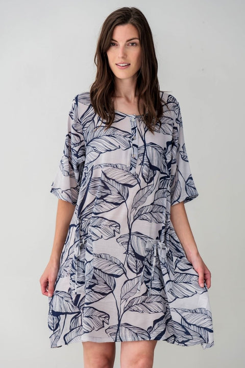 G&F Alia Cotton Blend Tunic Dress - Breathable Naturals | Glam & Fame Clothing