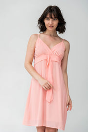 Alison Chiffon Midi Dress - Breathable Naturals | Glam & Fame Clothing