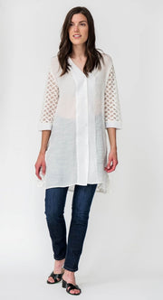 Amelie Cotton Blend Shirt - Breathable Naturals | Glam & Fame Clothing