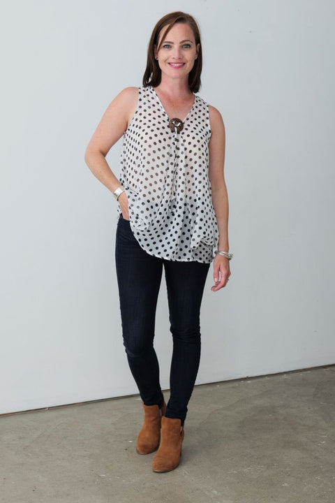 G&F Amy Top - Breathable Naturals | Glam & Fame Clothing