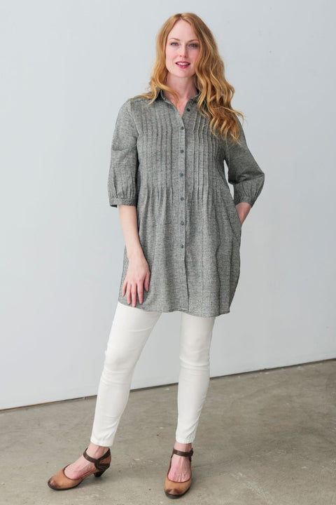 G&F Anna Linen Blend Shirt - Breathable Naturals | Glam & Fame Clothing