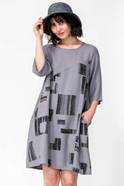 Avery Cotton Blend Midi Dress - Breathable Naturals | Glam & Fame Clothing