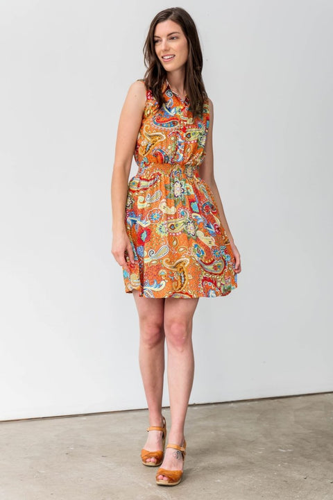 G&F Brenda Cotton Blend Summer Dress - Breathable Naturals | Glam & Fame Clothing